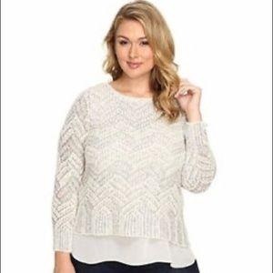 Lucky brand sweater silver/cream